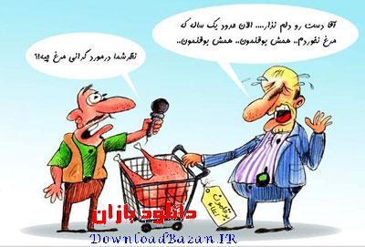 کاریکاتور های گرانی مرغ سری دوم