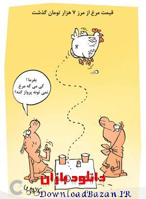 کاریکاتور های گرانی مرغ (سری دوم)
