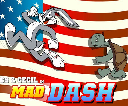 Bugs Bunny and Cecil in Mad Dash